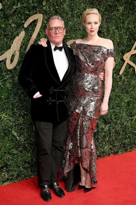 Gwendoline Christie (Brienne of Tarth) se casou com o designer Giles Deacon