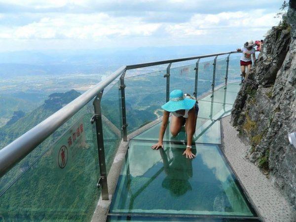 Caminho de cristal, altura 1430m, China