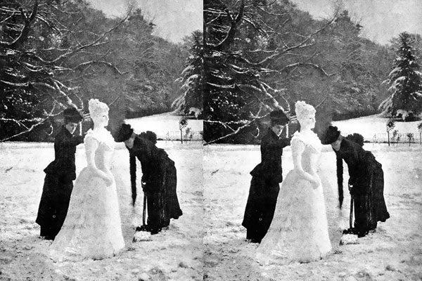 Uma dama de neve