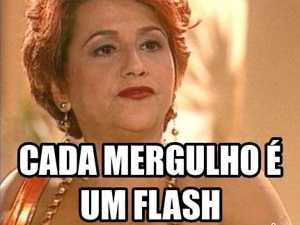 Cada mergulho é um flash!