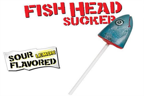 Pirulito de cabeça de peixe