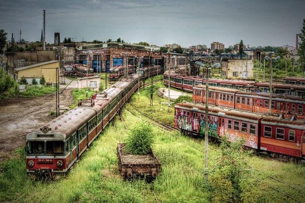 Estação ferroviária abandonada