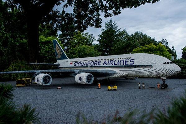 Um avião de Singapore Airlines