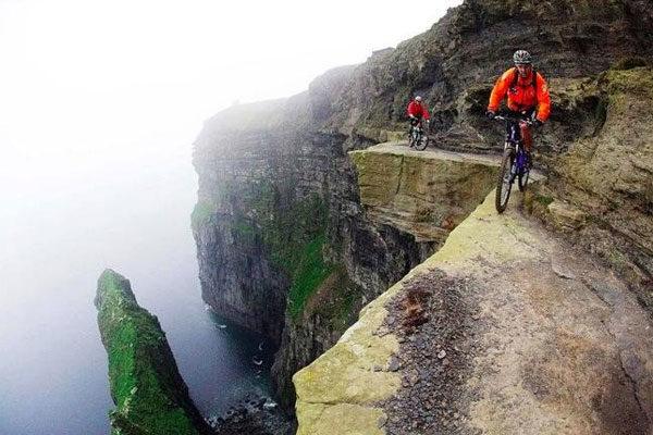 Um passeio extremo em bicicleta