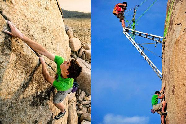 Um alpinista profissional