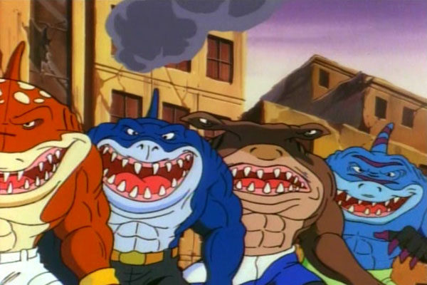 Justiceiros, metade homem / metade tubarão