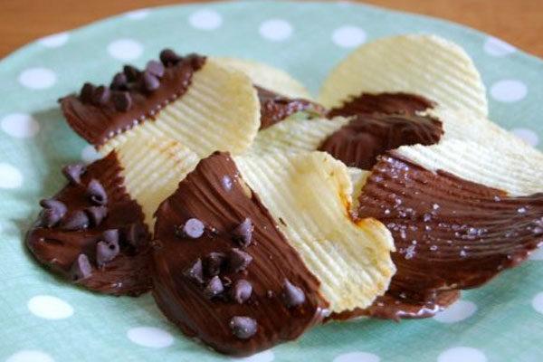 Batatinhas com chocolate