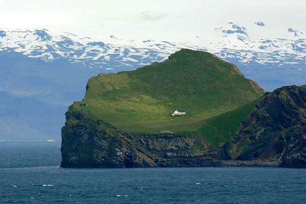 A casa na ilha Elliðaey, Islândia