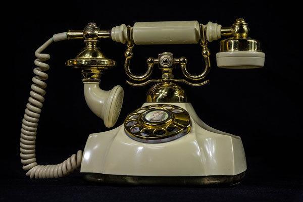 Telefones rotativos e de linha fixa