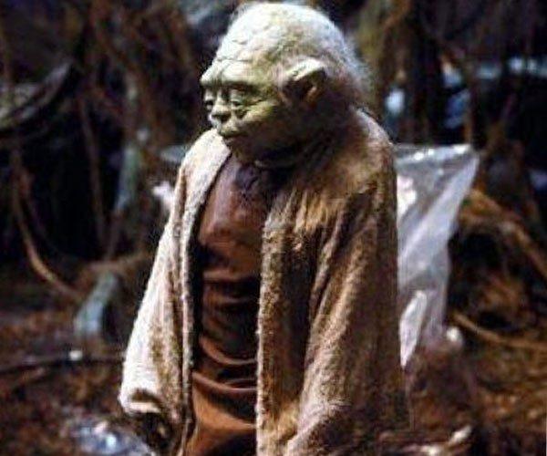 O Mestre Yoda desprevenido