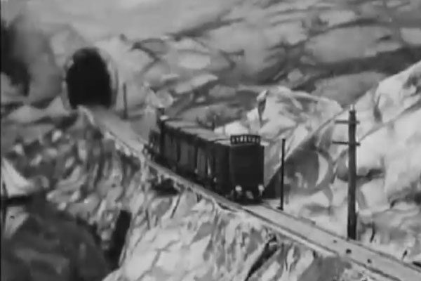 Uma colisão ferroviária