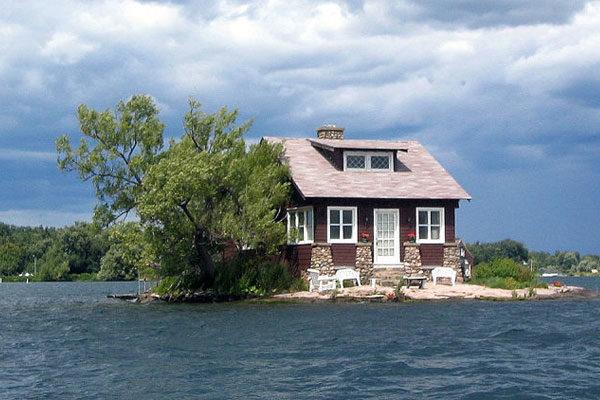 Casinha sobre a ilha