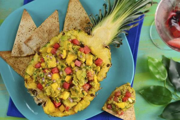 Guacamole com melancia ou abacaxi