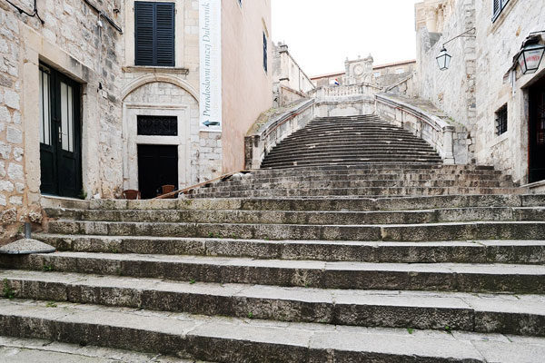 A espetacular escadaria de pedra