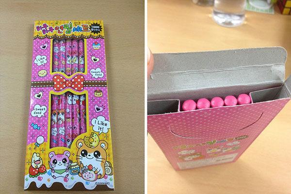 Uma caixa e alguns lápis