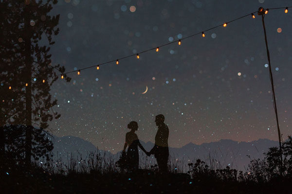Um céu estrelado