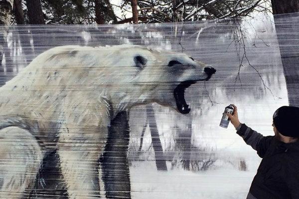 Um grande urso