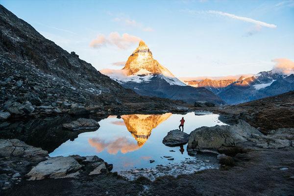 Matterhorn, Valais, fronteira entre Suíça e a Itália.