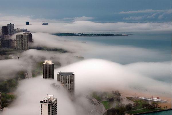 O nevoeiro está se aproximando
