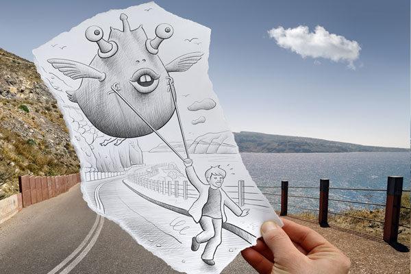 Ilustrações em papel