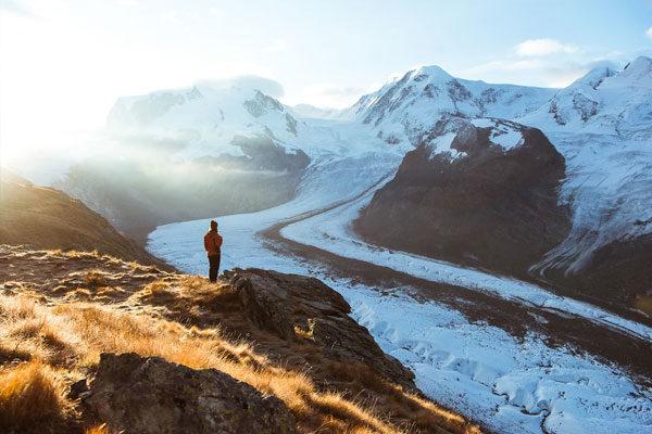 Gorner Glacier, Valais, Suíça