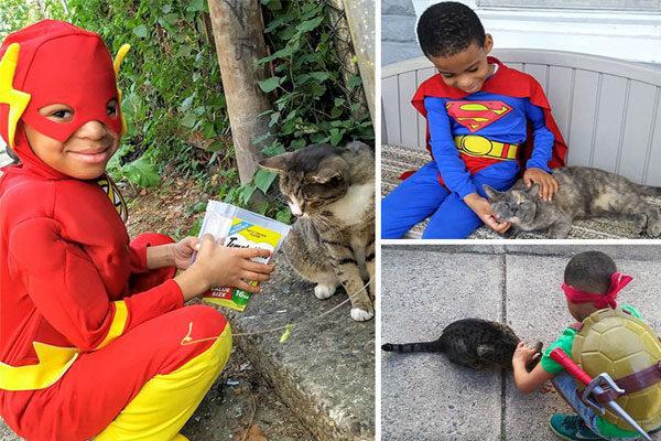 Super-herói de mascotes.