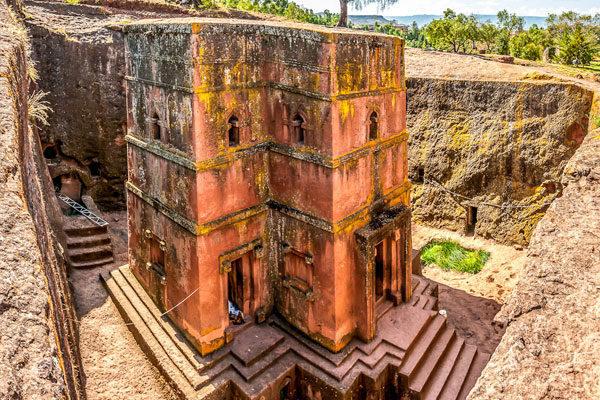 Igrejas subterrâneas talhadas na rocha de Lalibela, Etiópia