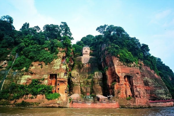 O Buda gigante Leshan, China