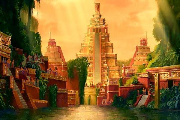 Mapa para a cidade perdida de El Dorado