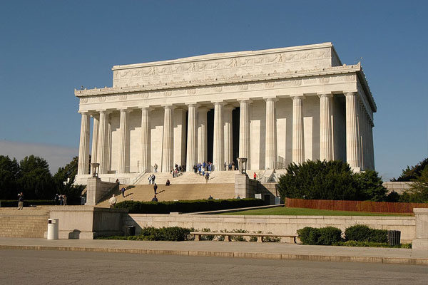 Lincoln Memorial, Washington, EUA.