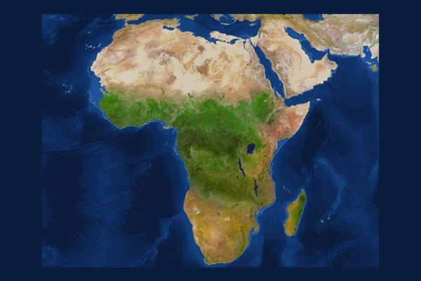 Mapa da África se derreteriam em polos